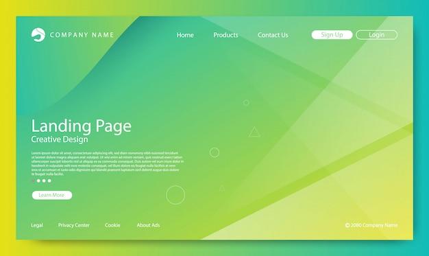 Fondo de la página de destino del sitio web Vector Premium