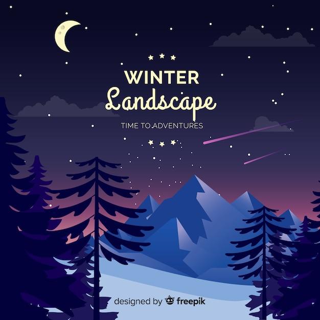 Fondo de paisaje de invierno vector gratuito