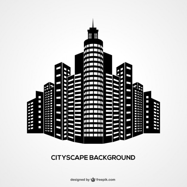 Fondo de paisaje urbano vector gratuito