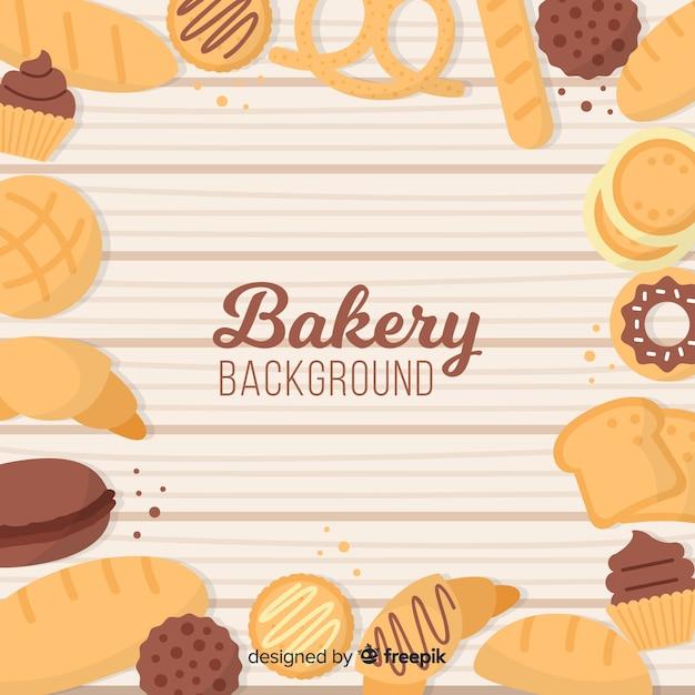 Fondo de panadería vector gratuito