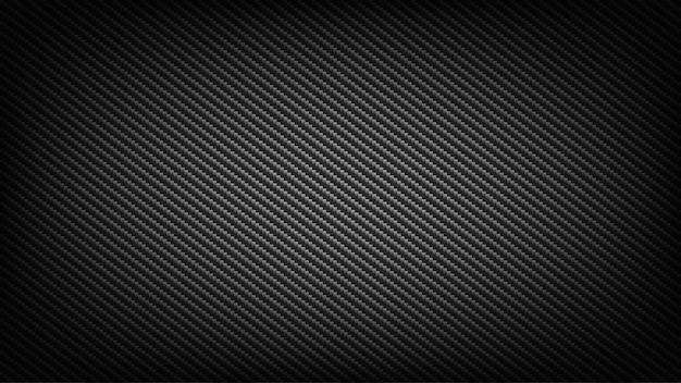 Fondo de pantalla ancha de fibra de carbono. contexto tecnológico y científico. Vector Premium