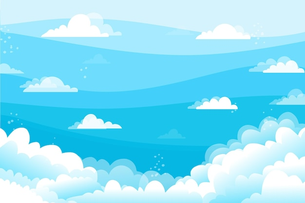 Fondo de pantalla de cielo para videoconferencia vector gratuito