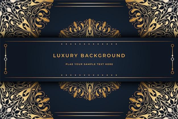 Fondo de pantalla con concepto de mandala de lujo vector gratuito