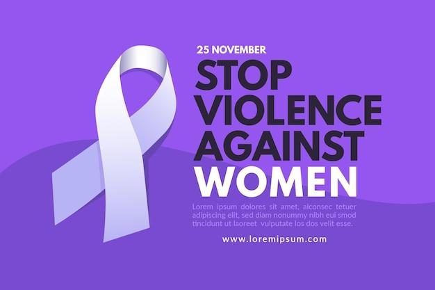 Fondo de pantalla del día internacional para la eliminación de la violencia contra la mujer Vector Premium