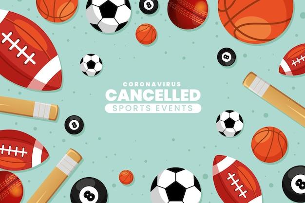 Fondo de pantalla de eventos deportivos cancelados vector gratuito