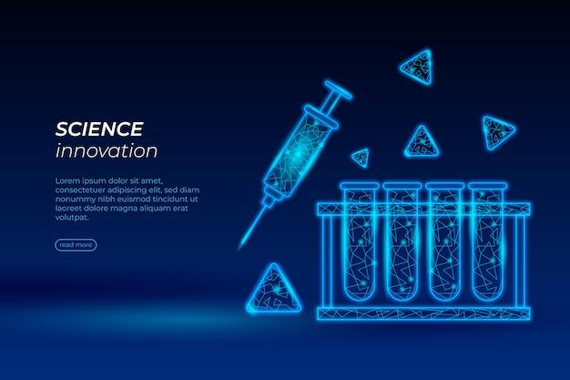 Fondo de pantalla futurista del laboratorio de ciencias vector gratuito