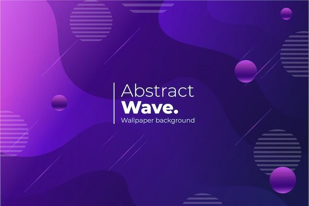 Fondo de pantalla de onda abstracta vector gratuito