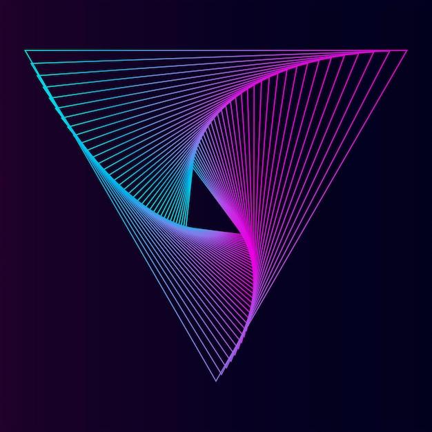 Fondo de pantalla de patrón dinámico abstracto vector gratuito