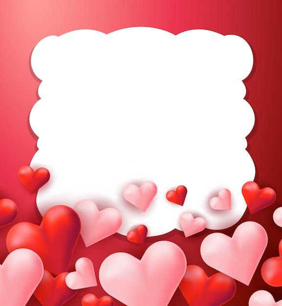 Un Fondo De Pantalla Rojo Corazón De San Valentín