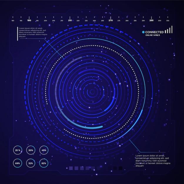 Fondo de pantalla de tecnología de diseño Vector Premium