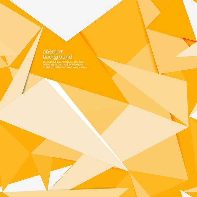 Fondo de papel amarillo abstracto con sombra, vector vector gratuito