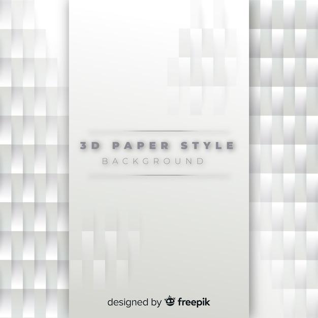 Fondo de papel blanco en 3d vector gratuito