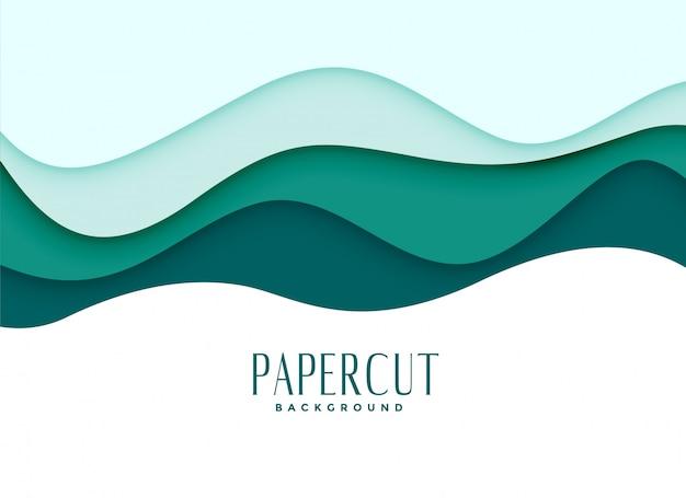 Fondo papercut en estilo ondulado vector gratuito