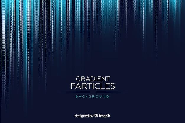 Fondo de partículas con degradado vector gratuito