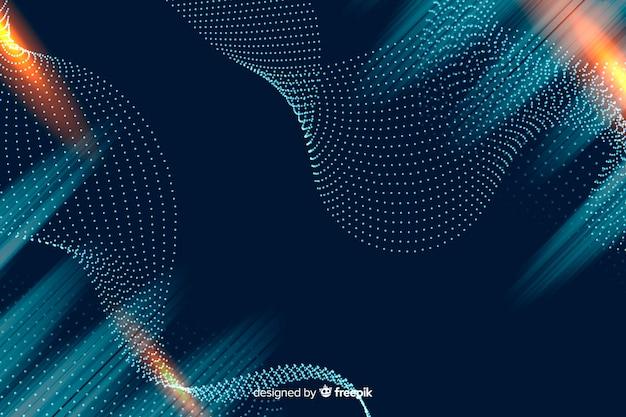 Fondo de partículas en gradiente vector gratuito