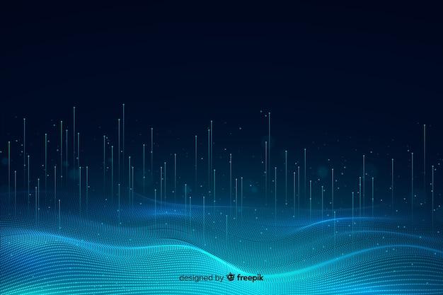 Fondo de partículas de tecnología abstracta vector gratuito