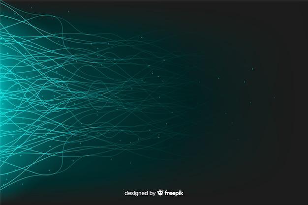 Fondo de partículas de tecnología brillante vector gratuito