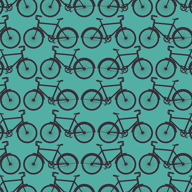 Fondo de patrón de bicicleta deportiva vector gratuito