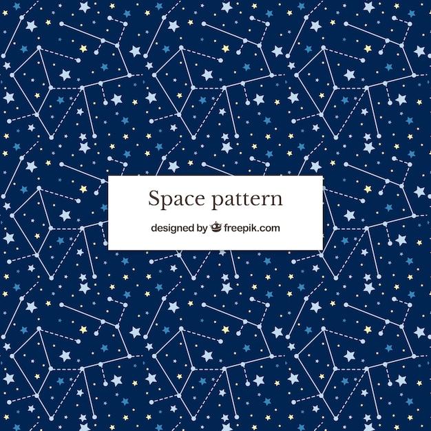 Fondo con patrón espacial vector gratuito