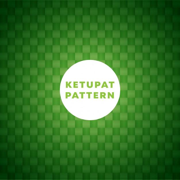 Fondo del patrón de ketupat Vector Premium