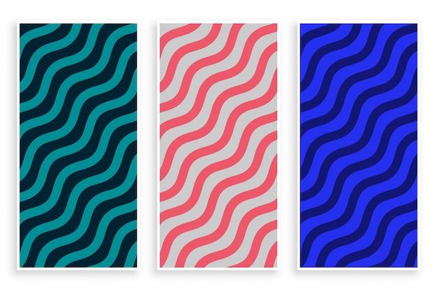 Fondo de patrón de onda diagonal zigzag abstracto vector gratuito