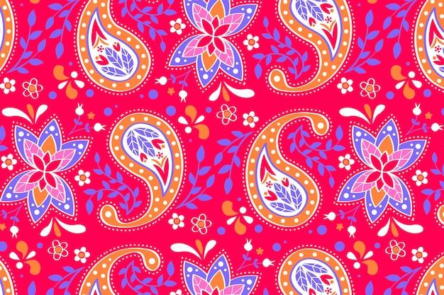 Fondo de patrón de paisley creativo vector gratuito