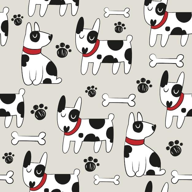 Fondo con patrón de perro | Descargar Vectores gratis