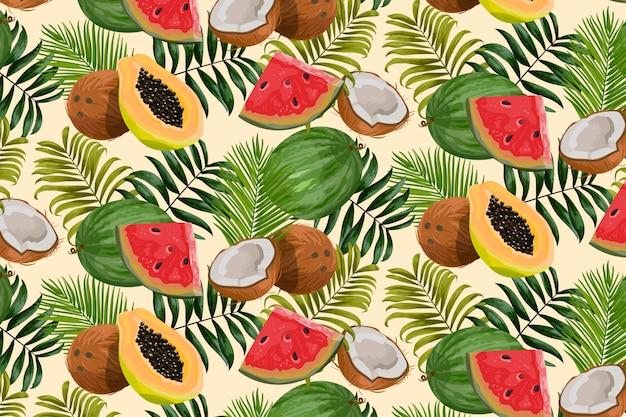 Fondo de patrón tropical vector gratuito