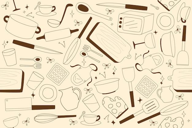 Fondos de cocina dibujos