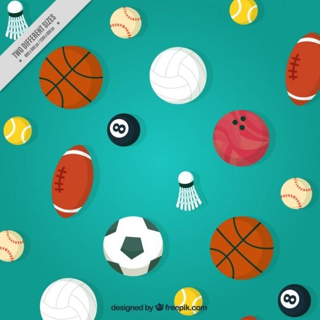 591fb57c276 Fondo con pelotas de diferentes deportes | Descargar Vectores Premium