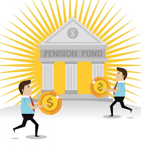 Fondo de pensiones de dinero Vector Premium