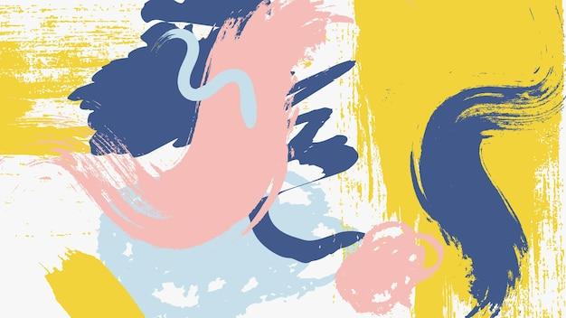 Fondo pintado abstracto vector gratuito