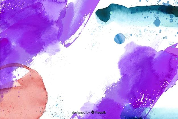Fondo pintado a mano abstracto fresco vector gratuito
