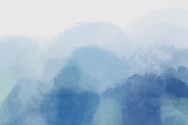 Fondo pintado a mano azul abstracto Vector Premium