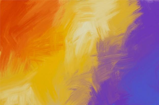 Fondo pintado a mano de colores violeta y fuego vector gratuito