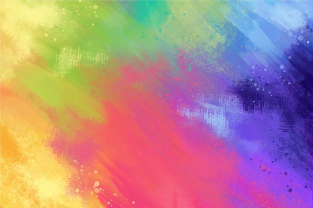 Fondo pintado a mano en paleta multicolor Vector Premium