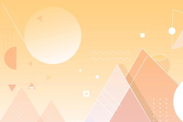 Fondo de pirámides amarillas vector gratuito