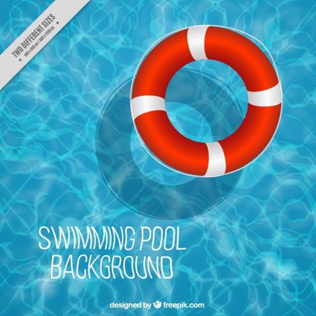 Fondo de piscina con flotador Vector Premium