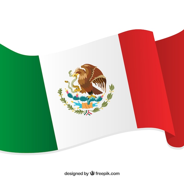 Fondo plano de bandera de méxico | Descargar Vectores gratis