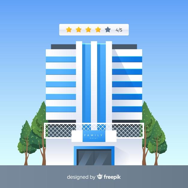 Fondo plano concepto opinión hotel vector gratuito