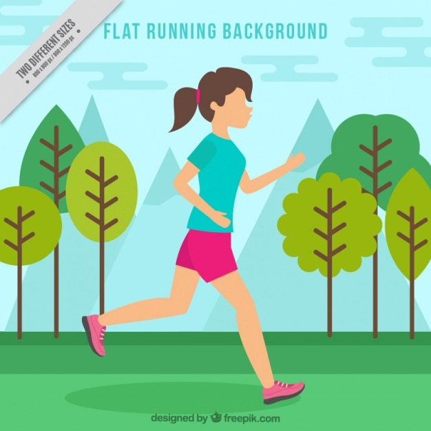 fondo plano de ni u00f1a corriendo en el parque descargar Girl Running Clip Art person running on a treadmill clipart
