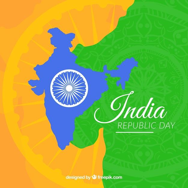 Fondo plano del día de la república de india | Descargar Vectores gratis