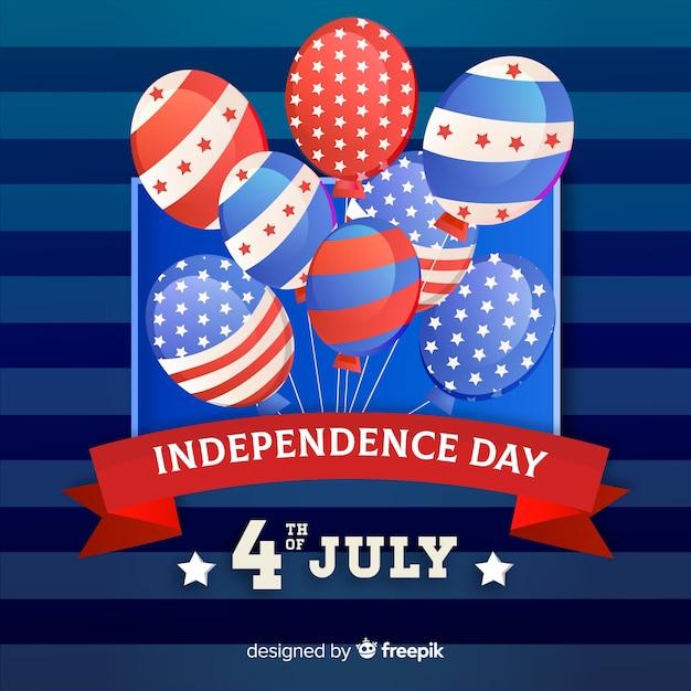Fondo plano día de la independencia vector gratuito