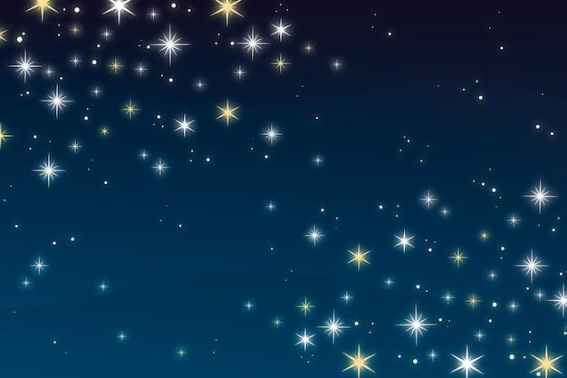 Fondo plano estrellas brillantes vector gratuito