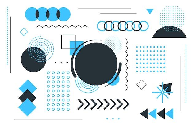 Fondo plano de formas geométricas vector gratuito