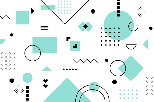 Fondo plano de modelos geométricos vector gratuito