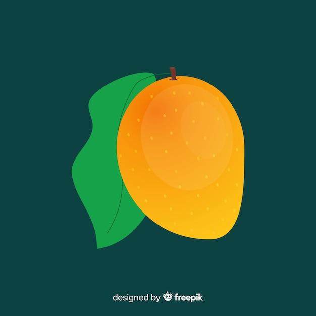 Fondo plano simple mango naranja vector gratuito