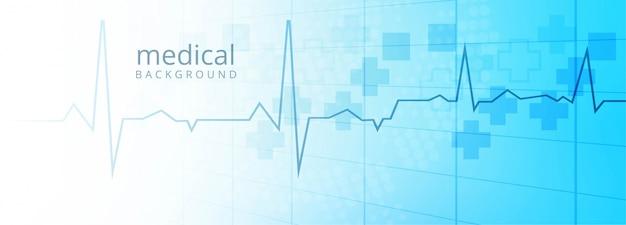 Fondo de plantilla de banner de salud y médica vector gratuito