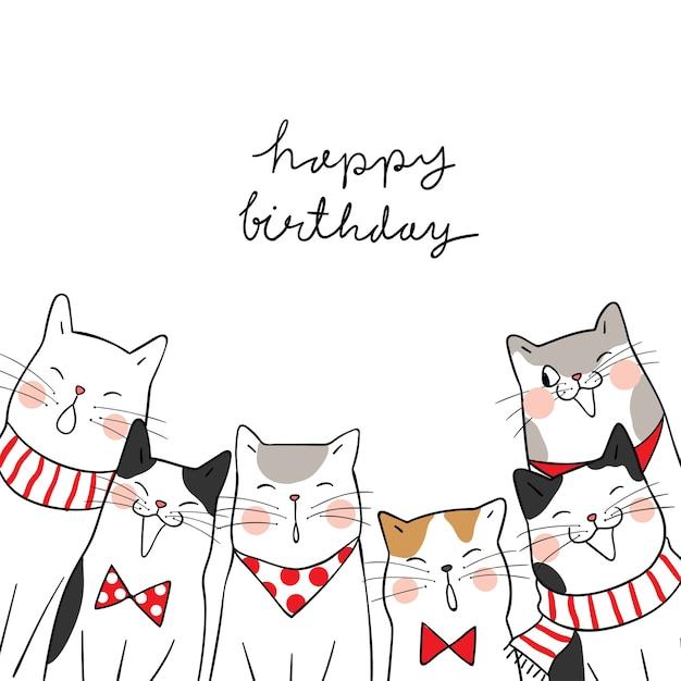 Feliz cumpleanos gatos pinterest