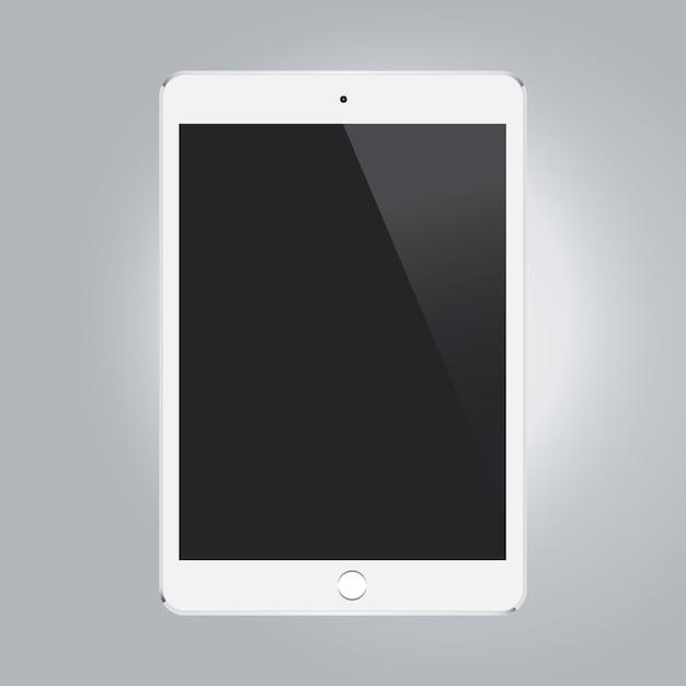 Fondo con plantilla de tableta vector gratuito